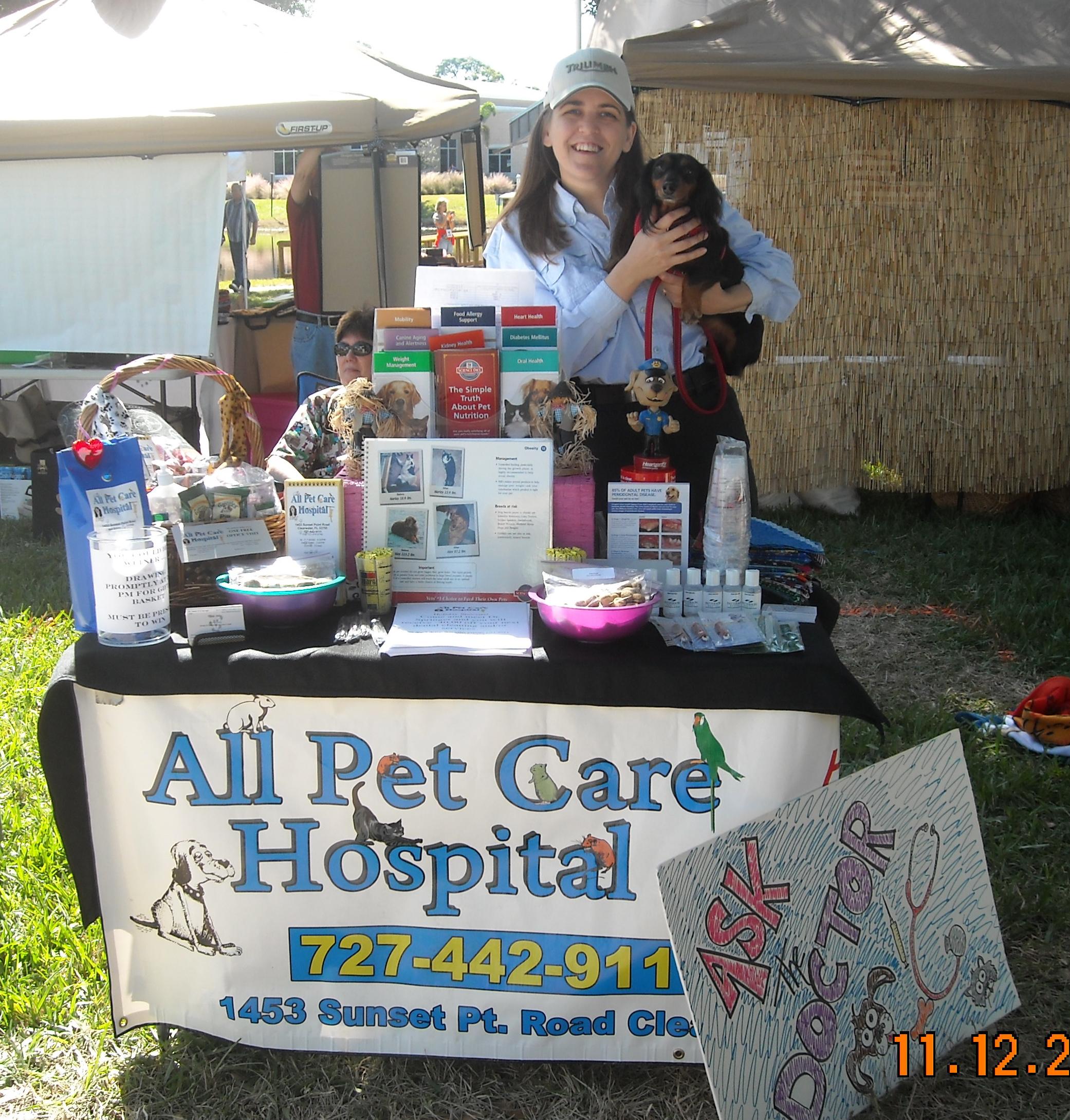 all pet care hospital at dogtoberfest the inter  vet